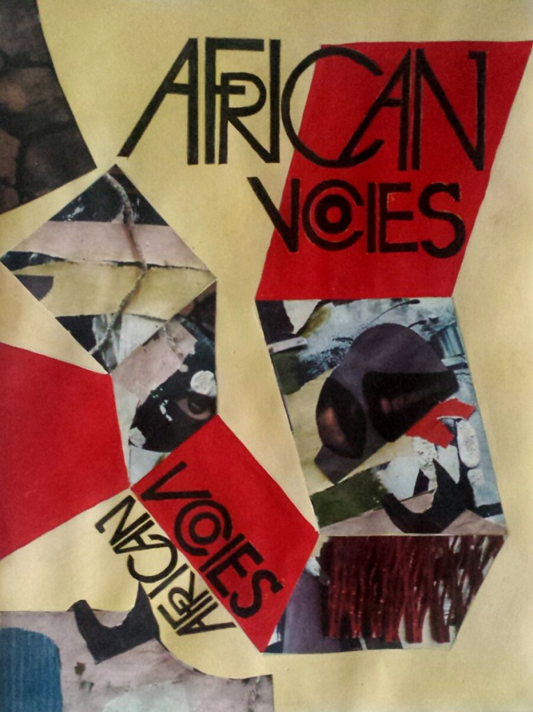 First draft of front cover project for African Voices.