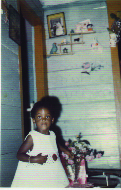 Pittershawn Palmer at her grandparents home in Jamaica.